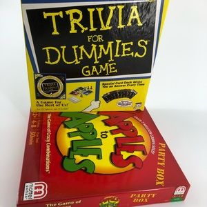 Trivia For Dummies & Apples to Apples Games